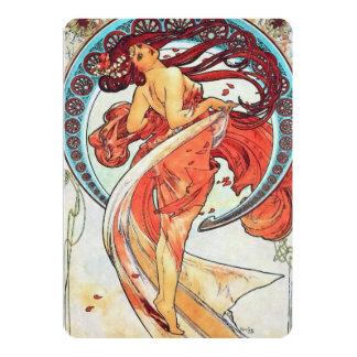 Pintura de Nouveau da arte do vintage da dança de Convite 12.7 X 17.78cm