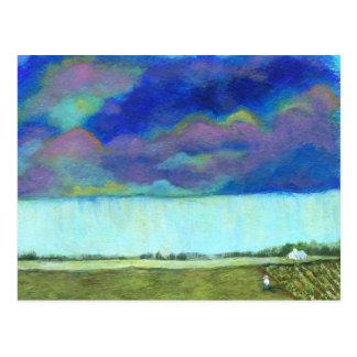 Pintura de paisagem abstrata da arte popular do cartão postal
