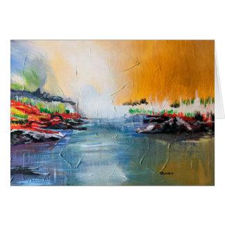 Pintura de paisagem abstrata no cartão