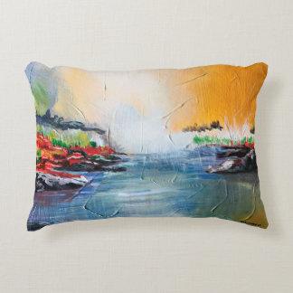 Pintura de paisagem abstrata no travesseiro almofada decorativa