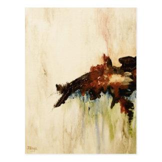 Pintura de paisagem da arte abstracta o que cartão postal