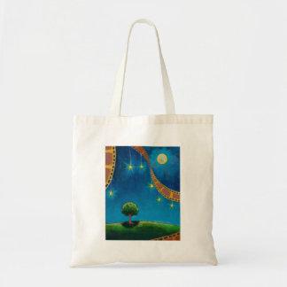 Pintura de paisagem do divertimento da arte da fot sacola tote budget
