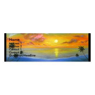 Pintura de paisagem do Seascape da opinião do por Cartão De Visita Skinny