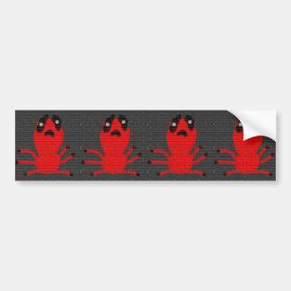 Pintura de parede da aranha vermelha, arte por adesivo para carro