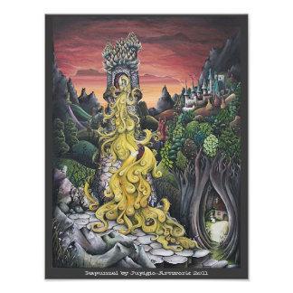 Pintura de Rapunzel Foto Artes