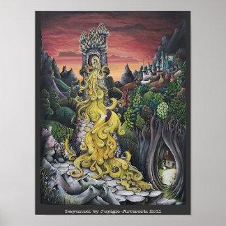 Pintura de Rapunzel Poster