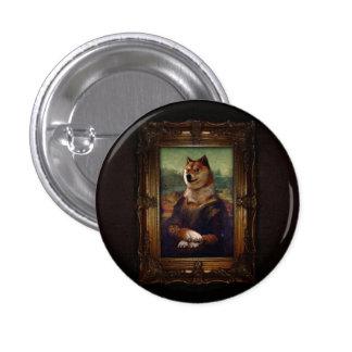 Pintura de Shibe Meme das belas artes de Mona Lisa Bóton Redondo 2.54cm