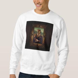 Pintura de Shibe Meme das belas artes de Mona Lisa Sueter