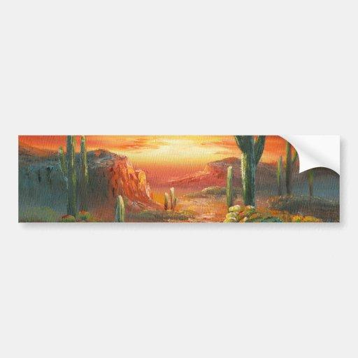 Pintura de uma pintura colorida do por do sol do d adesivo