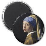 Pintura de Vermeer - menina com um brinco da pérol Imas