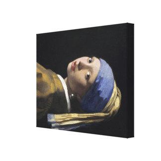 Pintura de Vermeer - menina com um brinco da pérol Impressão Em Tela