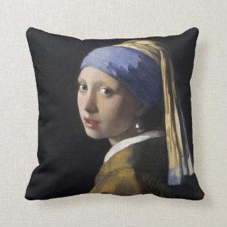 Pintura de Vermeer - menina com um brinco da pérol Travesseiros De Decoração
