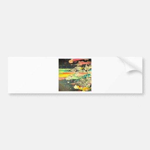 Pintura diária abstrata do respingo adesivos