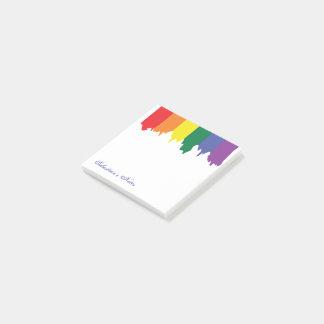 Pintura do arco-íris do orgulho gay de LGBT Bloquinho De Nota