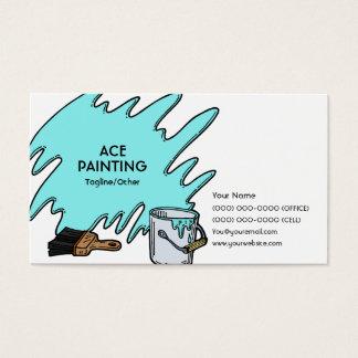 Pintura do ás cartão de visitas