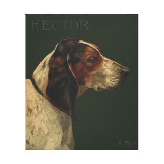 Pintura do cão do vintage da reprodução das canvas