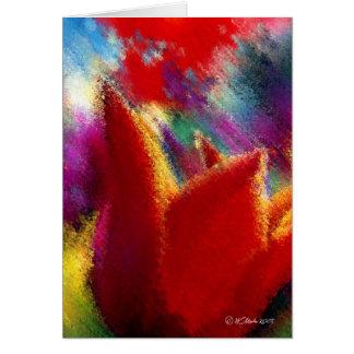 Pintura do cartão alaranjado da tulipa
