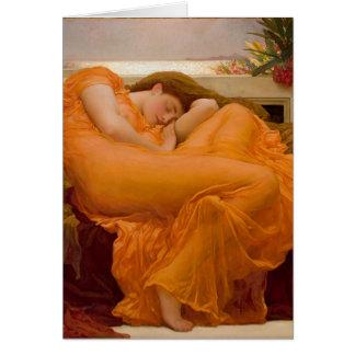 Pintura do cartão da arte do vintage do ardor