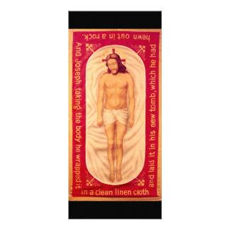 Pintura do cartão da cremalheira do cristo 10.16 x 22.86cm panfleto