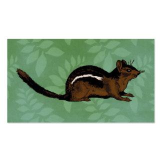 Pintura do Chipmunk Cartão De Visita