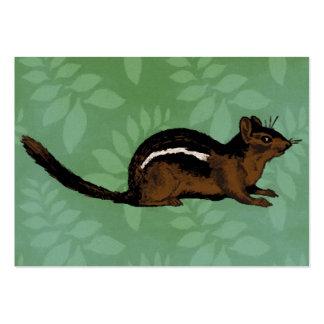 Pintura do Chipmunk Cartão De Visita Grande