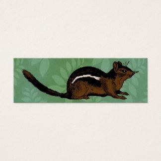 Pintura do Chipmunk Cartão De Visitas Mini