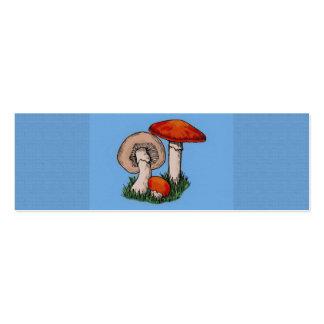 Pintura do cogumelo cartão de visita skinny