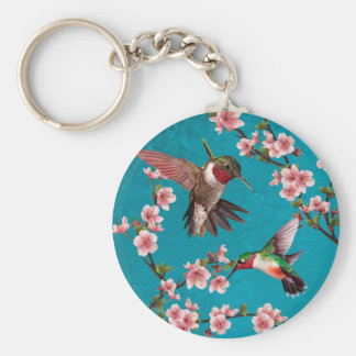 Pintura do colibri do estilo do vintage chaveiro
