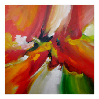 Pintura do Expressionism abstrato por Serdar Hizli Pôster