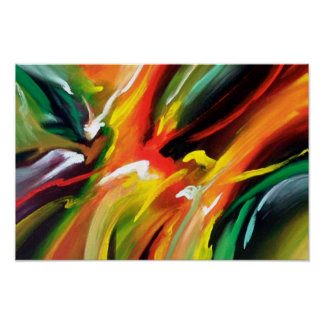 Pintura do Expressionism abstrato Pôster