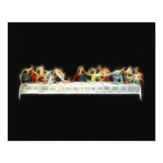 Pintura do Fractal de da Vinci Jesus da última cei Modelos De Panfleto