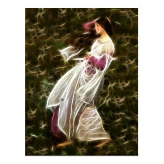 Pintura do Fractal do Waterhouse dos Windflowers Cartão Postal