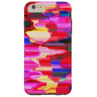 pintura do gotejamento do arco-íris capas iPhone 6 plus tough