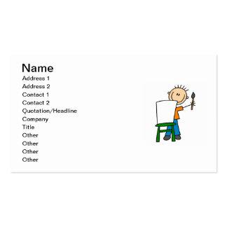 Pintura do menino modelo cartao de visita
