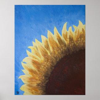 Pintura do nascer do sol do girassol posters