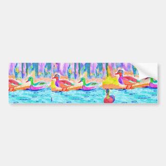 Pintura do pato adesivo para carro