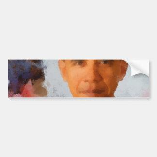 Pintura do retrato de Obama Adesivo Para Carro