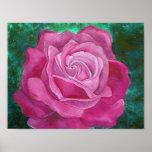 Pintura do rosa do rosa impressão
