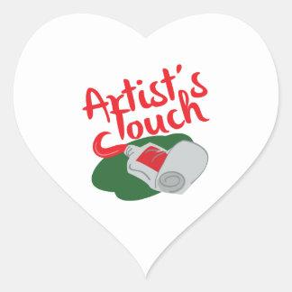 Pintura do vermelho do artista adesivos em forma de corações