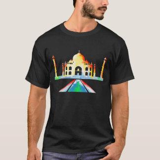 Pintura do Watercolour de Taj Mahal Camiseta