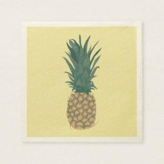 Pintura dos guardanapo de papel do abacaxi maduro