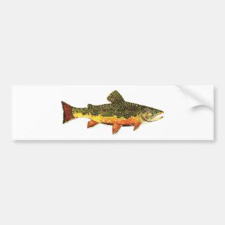Pintura dos peixes da truta de ribeiro adesivo