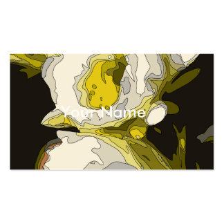 Pintura dourada da flor da lagoa do lírio cartões de visitas