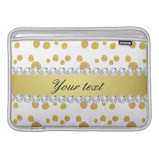 Pintura e diamantes de óleo do ouro das bolinhas bolsas de MacBook