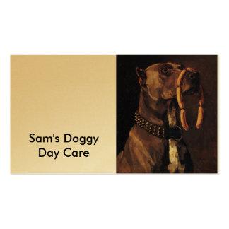 Pintura engraçada do cão cartão de visita