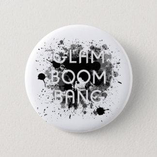 Pintura escura Splat do golpe Glam do crescimento Bóton Redondo 5.08cm