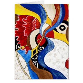 Pintura espanhola da arte abstracta cartão