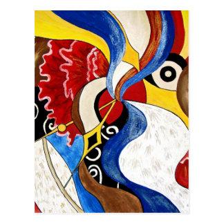 Pintura espanhola da arte abstracta cartão postal