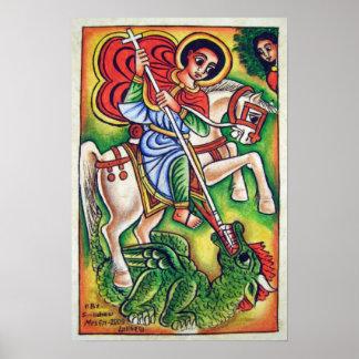 Pintura etíope da igreja - canvas de Kidus Gabriel Poster