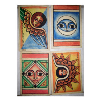 Pintura etíope da igreja - poster dos trabalhos de